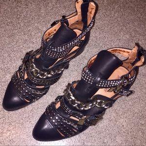 NEW! Jeffrey Campbell •Black, Leather Heels• Sz. 8